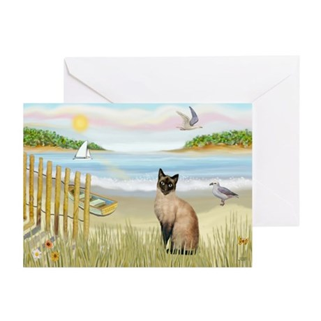 Rowboat / Siamese Greeting Cards (Pk of 10)