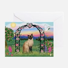 Rose Arbor / Siamese Greeting Cards (Pk of 10)