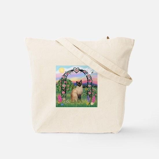 Rose Arbor / Siamese Tote Bag
