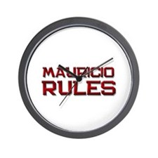 mauricio rules Wall Clock