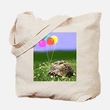 LEOPARD TORTOISE WITH BALLOONS Tote Bag