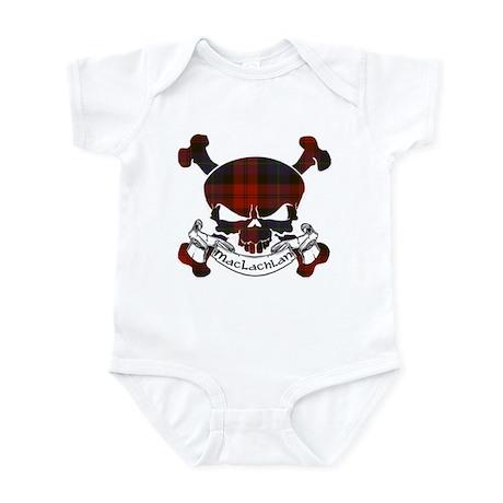 MacLachlan Tartan Skull Infant Bodysuit