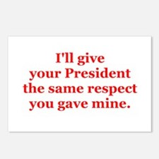 I'll give your President the. Postcards (Package o
