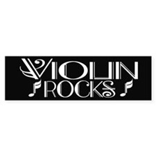 Cool Violin Rocks Bumper Car Sticker