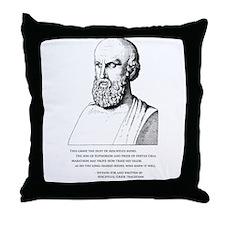 Aeschylus' Epitaph Throw Pillow