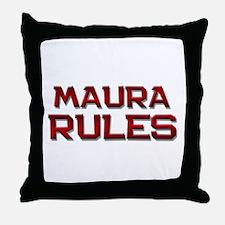 maura rules Throw Pillow