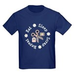 Eat Sleep Scrap Repeat Kids Dark T-Shirt