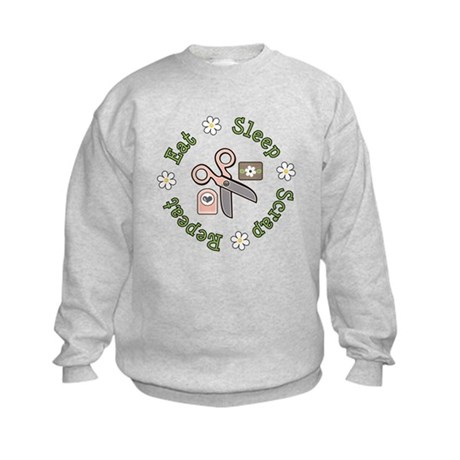 Eat Sleep Scrap Repeat Kids Sweatshirt