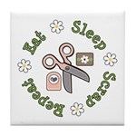 Eat Sleep Scrap Repeat Tile Coaster