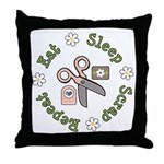 Eat Sleep Scrap Repeat Throw Pillow