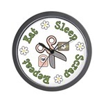 Eat Sleep Scrap Repeat Wall Clock
