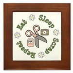 Eat Sleep Scrap Repeat Framed Tile