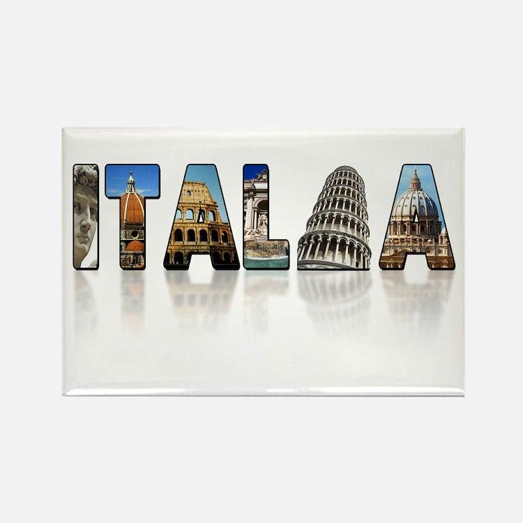 Italian pride Rectangle Magnet (100 pack)