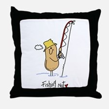 Fishing Nut Throw Pillow