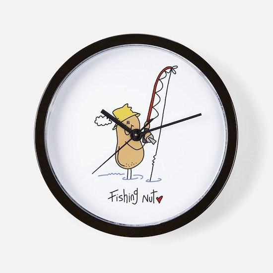 Fishing Nut Wall Clock