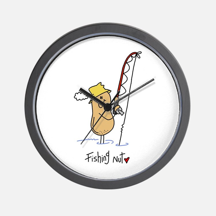 Funny fishing clocks funny fishing wall clocks large for Fish wall clock