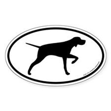 Pointing Pointer Oval Decal
