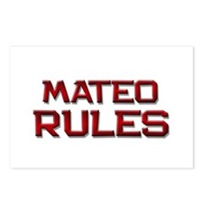 mateo rules Postcards (Package of 8)