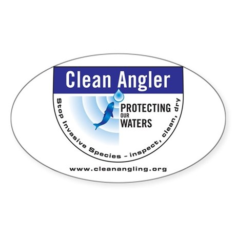 Clean Angler Logo web2 Sticker