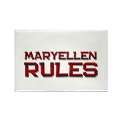 maryellen rules Rectangle Magnet