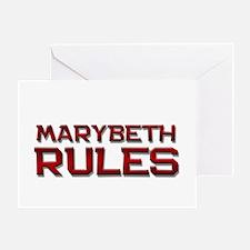 marybeth rules Greeting Card