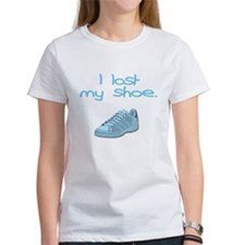 I lost my shoe. Tee