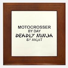 Motocrosser Deadly Ninja Framed Tile