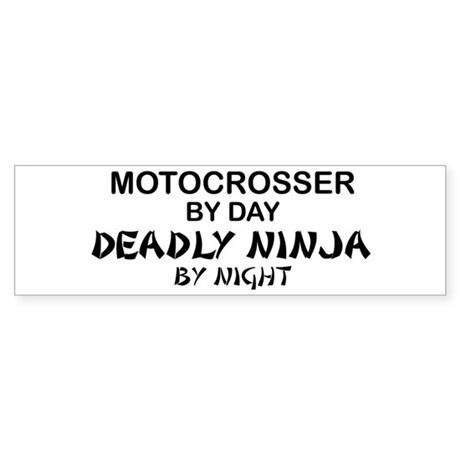 Motocrosser Deadly Ninja Bumper Sticker
