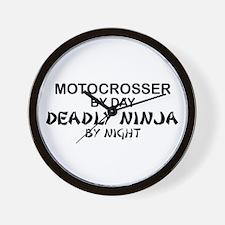 Motocrosser Deadly Ninja Wall Clock