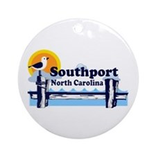Southport NC Ornament (Round)