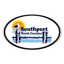 Southport NC Oval Decal