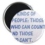 "3 kinds of people 2.25"" Magnet (100 pack)"