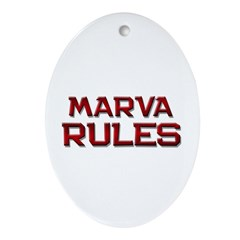 marva rules Oval Ornament