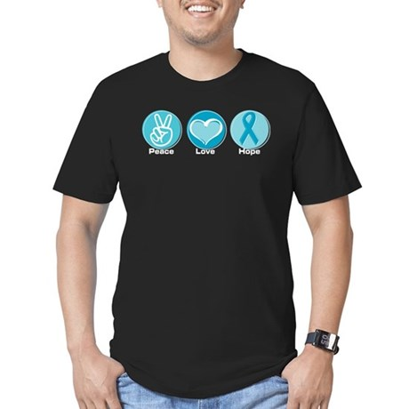 Peace Love Teal Hope Men's Fitted T-Shirt (dark)