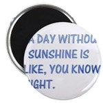 A day without sunshine Magnet