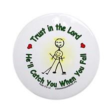 Trust in the Lord Ornament (Round)