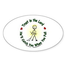 Trust in the Lord Oval Decal