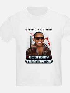 Economy Terminator anti Obama T-Shirt