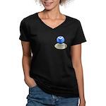 Lighthouse-Fog Women's V-Neck Dark T-Shirt