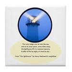 Lighthouse-Fog Tile Coaster