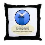 Lighthouse-Fog Throw Pillow