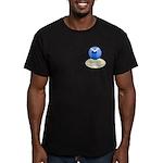 Lighthouse-Fog Men's Fitted T-Shirt (dark)