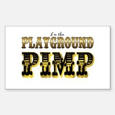 Playground Pimp Rectangle Bumper Stickers