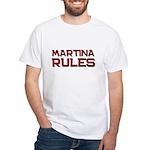 martina rules White T-Shirt