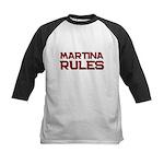 martina rules Kids Baseball Jersey