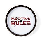 martina rules Wall Clock