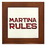 martina rules Framed Tile