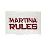 martina rules Rectangle Magnet (10 pack)