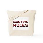 martina rules Tote Bag