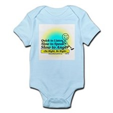 Quick to Listen, Slow to Speak Infant Bodysuit